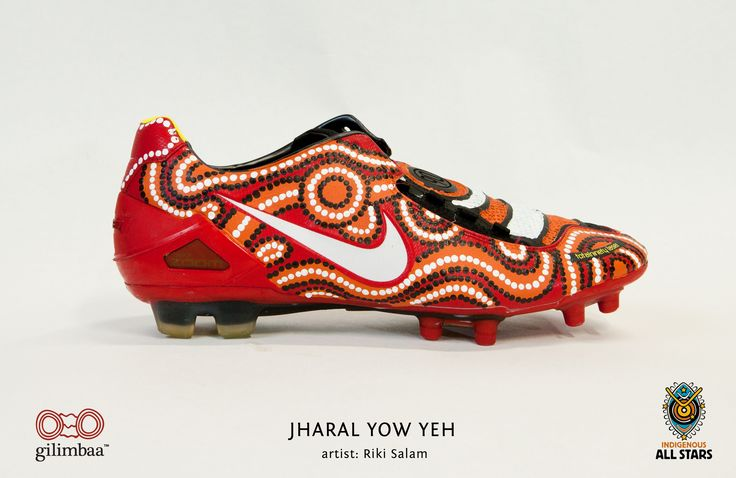 Love this!    NRL Indigenous Boots All Stars Painted by GIlimbaa - Jharal Yow Yeh