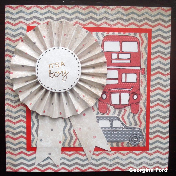 Card designed by Georgina Ford using Love London paper pad by Craftwork Cards.