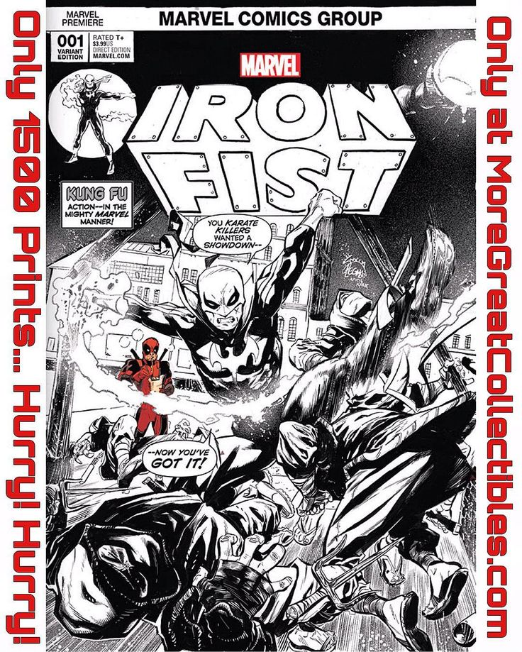 NEW EXCLUSIVE OFFER!!  MoreGreatCollectibles.com has a @ryanstegman Iron Fist exclusive cover limited to just 3000 prints!! This cover is an homage to the first appearance and will definitely be a collectible!! There is also a 2 pack special including a rarer B&W cover limited to 1500 prints with Deadpool in it and a 3 pack special with a super rare full color version limited 1000 prints!! I ALREADY PLACED MY ORDER!!! Preorders are open now at MoreGreatCollectibles.com  Download images at…