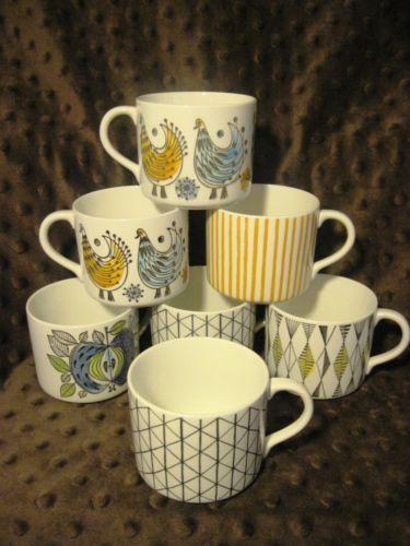7 Rorstrand Cups Mugs Sweden Demitasse Espresso Venezia Kadett Curtis Eden Fenix   eBay
