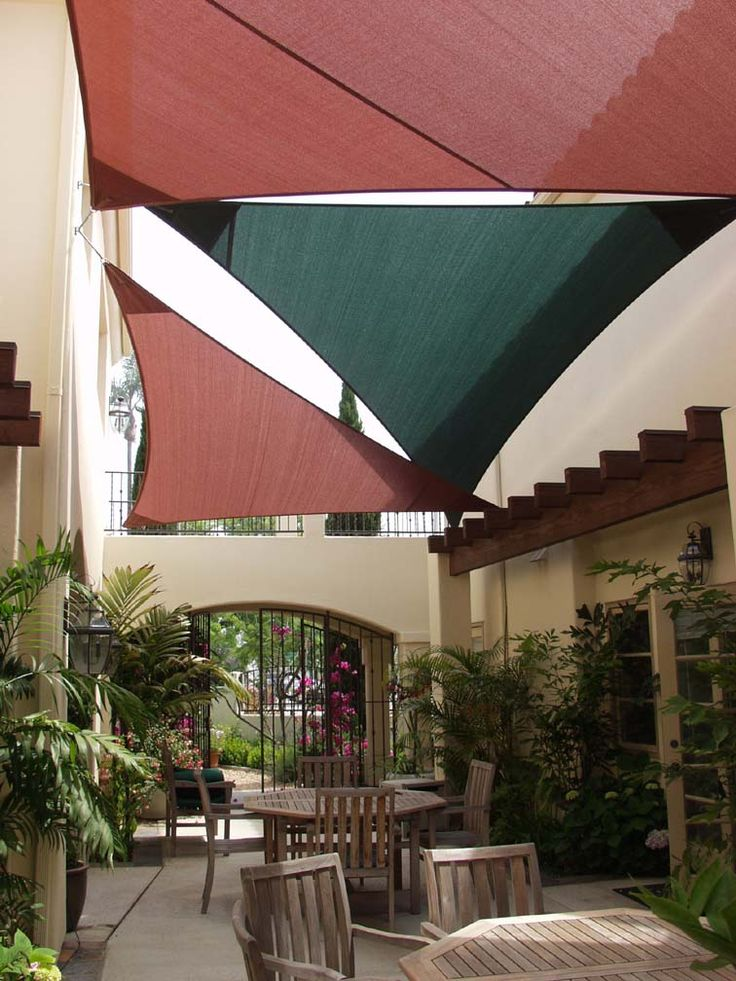 155 Best Images About Shade Sails On Pinterest Patio