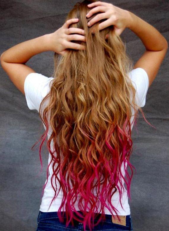 punte capelli rosa