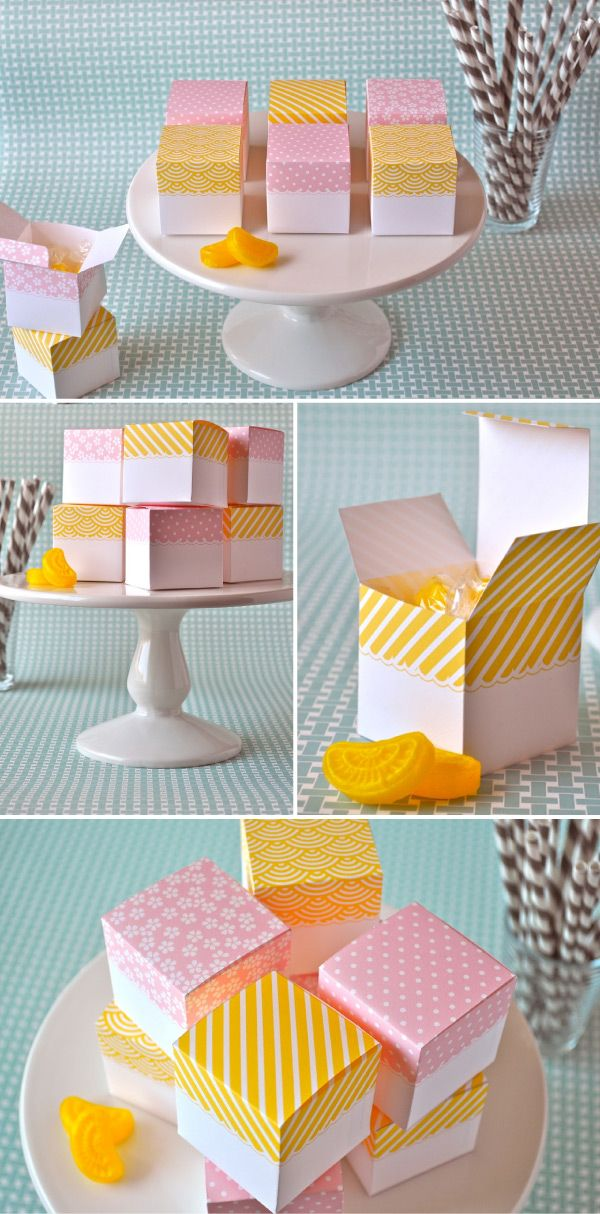 Adorable DIY favor boxes. #DIY #Favor #Boxes
