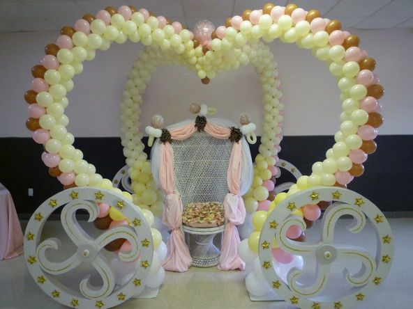 Princess carriage with mom wicker chair. www.dreamarkevents.com