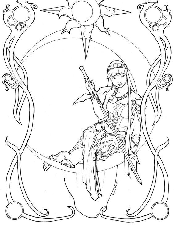 44 best coloriage magic kight rayearth images on Pinterest | Adler ...