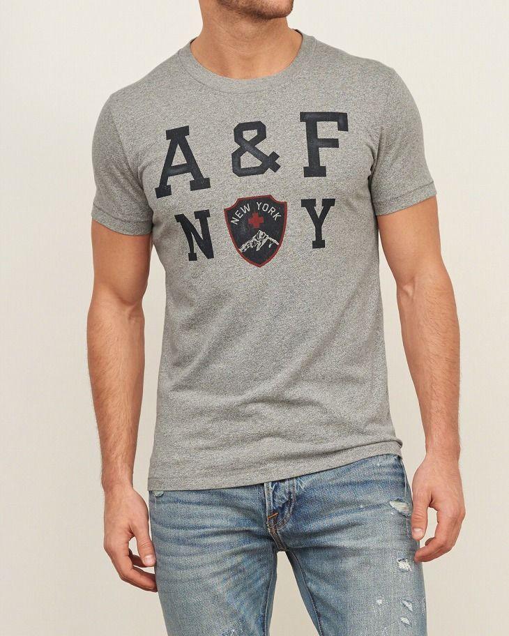 【楽天市場】アバクロ メンズ Tシャツ PRINTED LOGO GRAPHIC TEE グレー アバクロンビー&フィッチ Abercrombie & Fitch 正規:RB楽天市場店