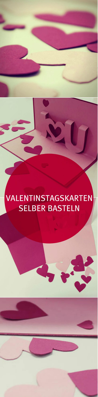 Süße Valentinstagskarten selber basteln - Überrasche Deinen Liebsten mit einer selbst gebastelten Karte zum Valentinstag. Diese und weitere Inspirationen findest Du in unserem mydays Magazin. VALENTINSTAG | geschenke