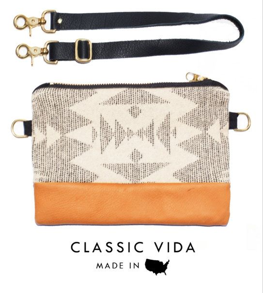 VIDA Leather Statement Clutch - Winter Wonderland by VIDA