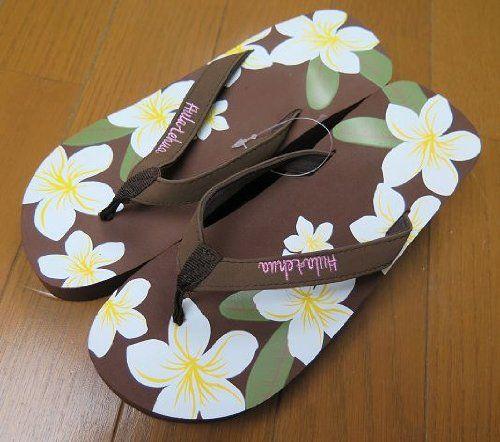 Amazon.co.jp: ハワイアン 雑貨/ハワイ 雑貨 プラットフォーム 厚底 ビーチサンダル(ビッグティアレ/ブラウン) ハワイ お土産: シューズ&バッグ