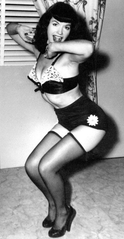 Betty Page Photos: Bettie Page In High Waisted Panties {Click To Read More