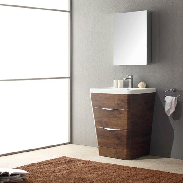 Inspiration Web Design Fresca Milano inch Rosewood Modern Bathroom Vanity with Medicine Cabinet