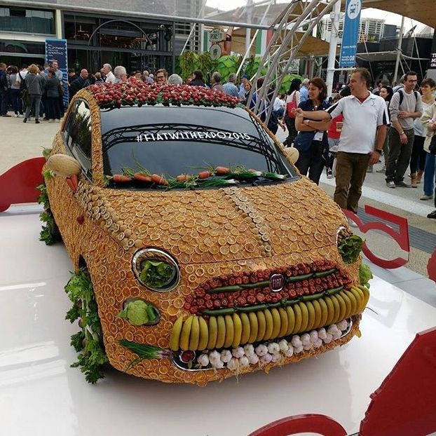 Una #Fiat500 di frutta