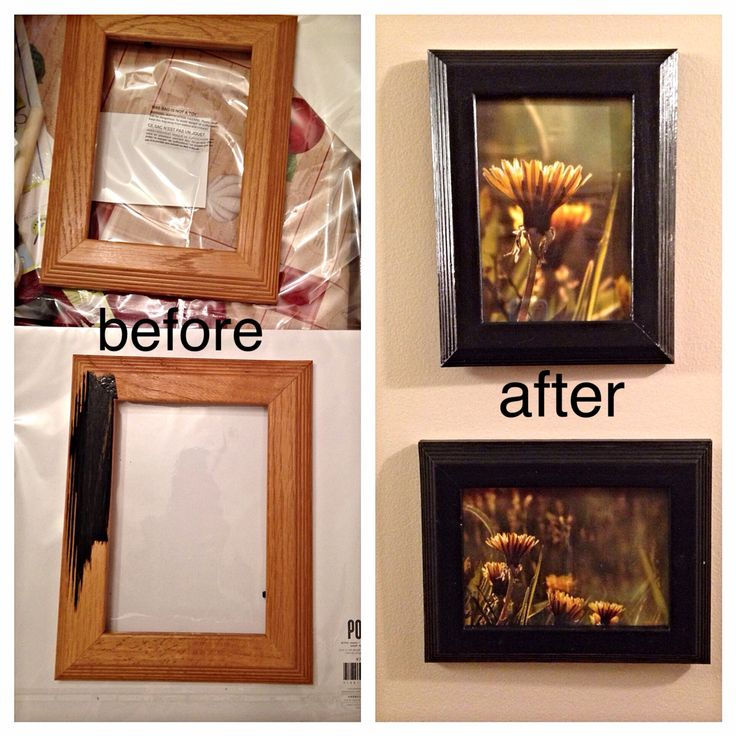 Thrift store wood frames to beautiful black frames for a couple of my photography prints