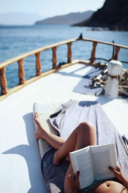 a book on a boat....bliss