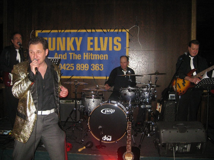 The Hitman, Funky Elvis is a covers singer, Elvis Tribute Artist. A thunderball of energy, who never fails to involve his audiences, and provide a rivetting night of entertainment.