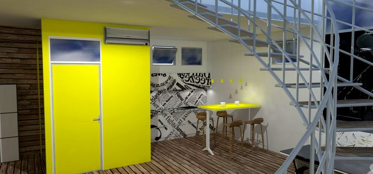 """Our designers vision of office casual space with Woost """"HIGHT"""" furniture. Let us know what you think."""