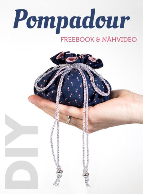 Freebie Schnittmuster & Nähvideo Pompadour Stoffbeutel nähen | pattydoo