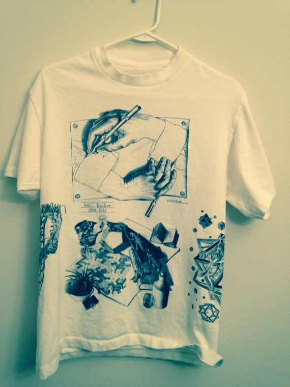 SOLD   Vintage RARE 1991 MC ESCHER  Hands Drawing and other by MY2NDJOB