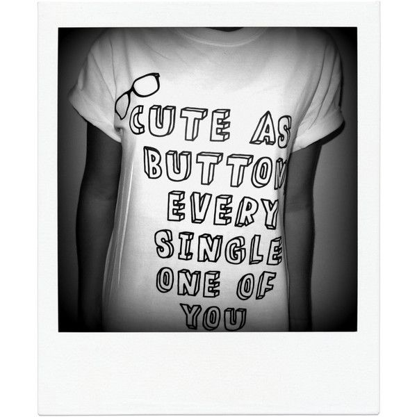 Cute as a Button Shirt Harry Styles Marcel One Direction 1d ($15) ❤ liked on Polyvore featuring tops, t-shirts, shirts, one direction, white, women's clothing, button tee, button front tops, white shirt and white t shirt