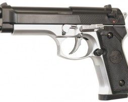 pistol airsoft m92f silver