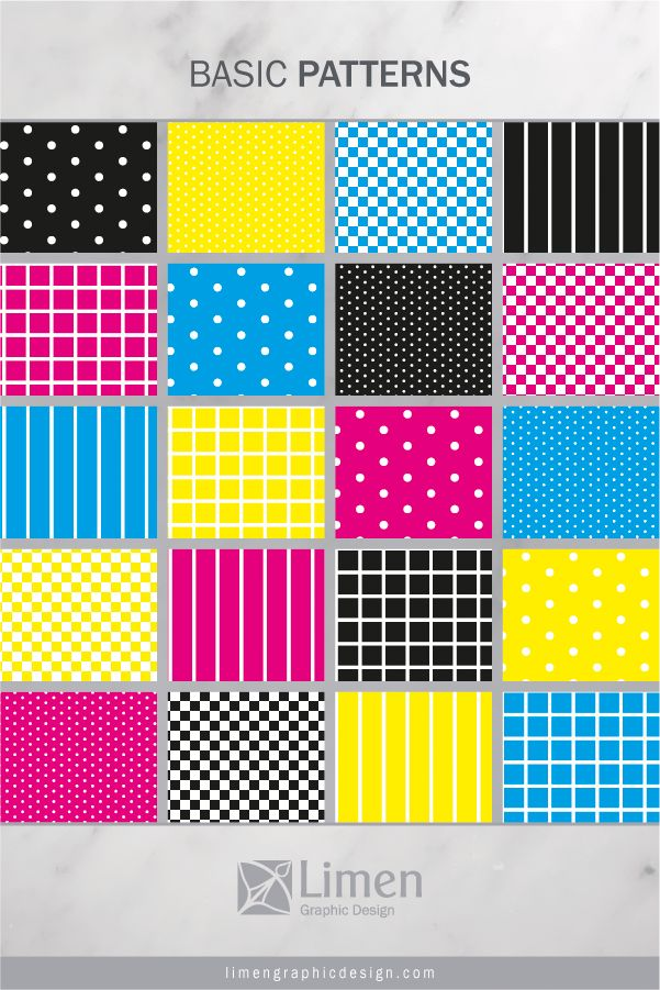 CMYK Color Basics Patterns by Limen Graphic Design