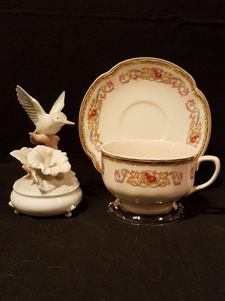 Johnson Bros GUERNSEY pattern PAREEK shape Teacup with Saucer