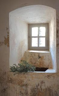 window and sink in stone...