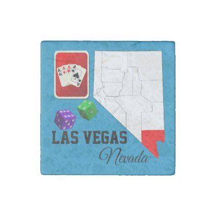 Las Vegas Nevada and Clark County Souvenir Stone Magnet - individual customized designs custom gift ideas diy