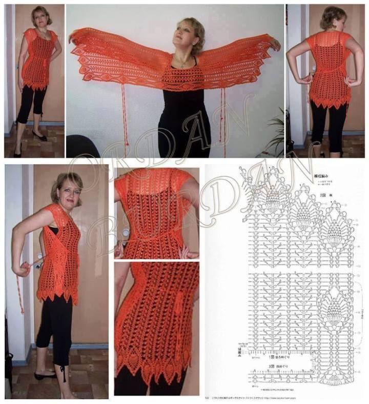 Encantador Chaleco Patrón De Crochet Libre Embellecimiento - Manta ...