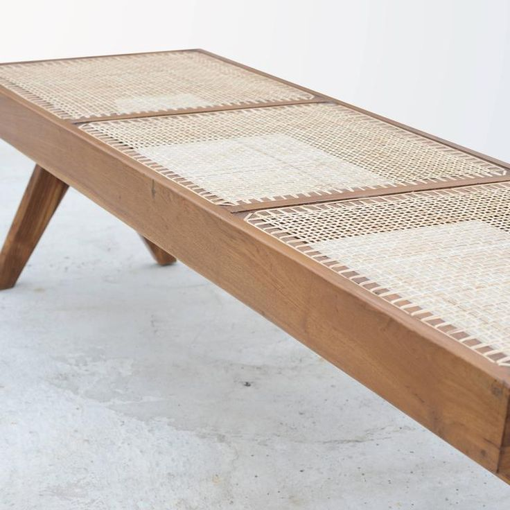 Rare Chandigarh Caned Bench, PJ-SI-33-C by Pierre Jeanneret 2