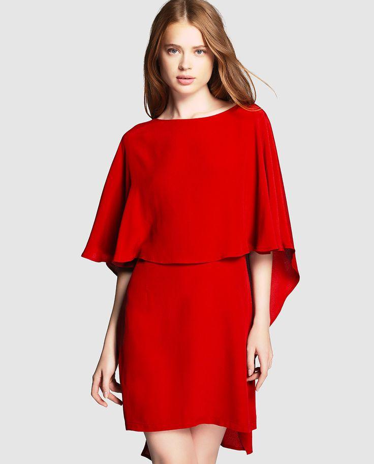 el blog de ana suero_Moda Navidades 2015_El Corte Ingles mini vestido rojo capa