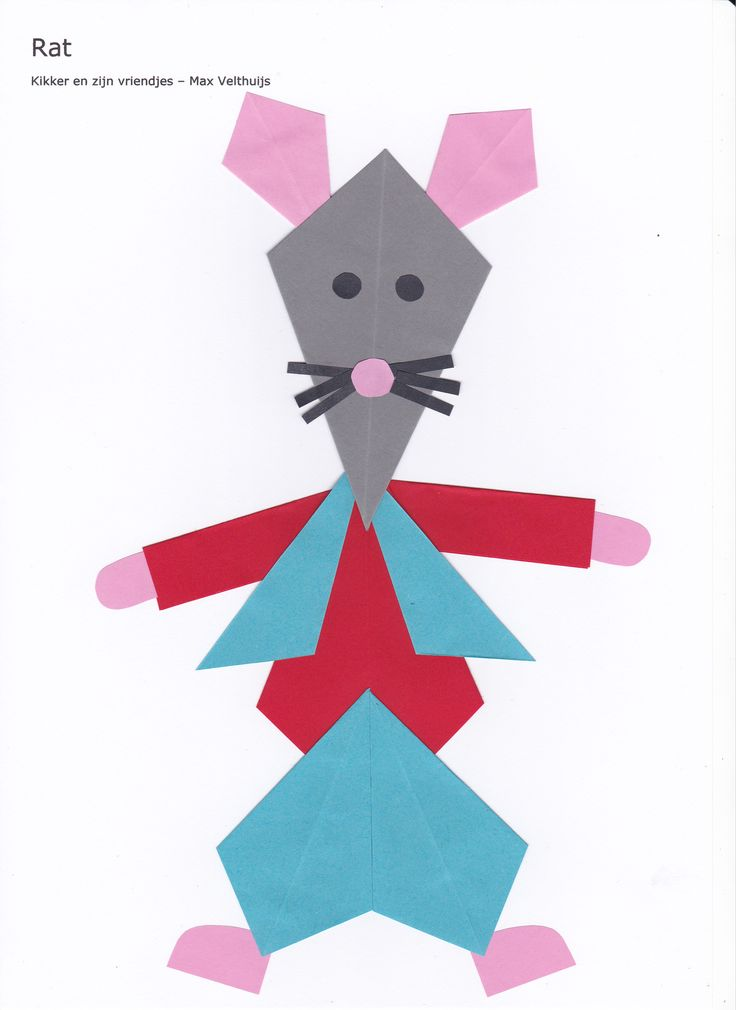 Rat (kikker en zijn vriendjes) - vlieger www.vouwjuf.nl