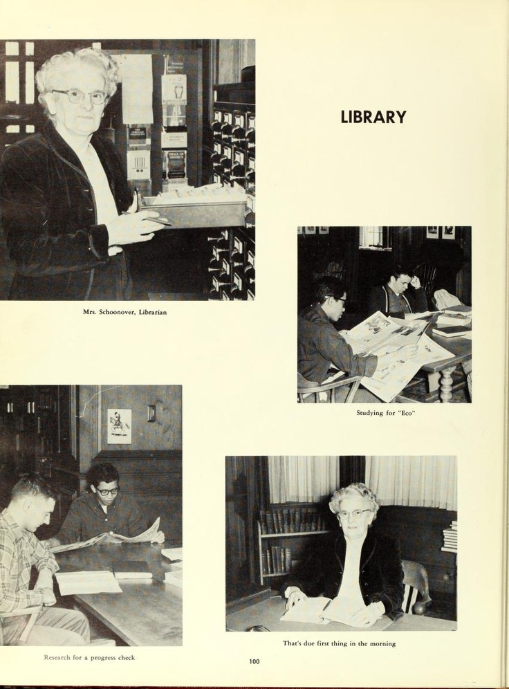 Pictures from the library in 1960