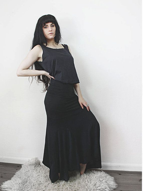 mermaid // floor length skirt by raintower on Etsy