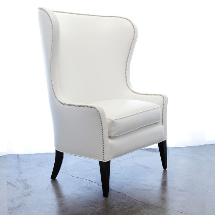 Armchairs, Hollywood Regency White Leather Armchair, So Elegant, One Of  Over 3,000 Limited