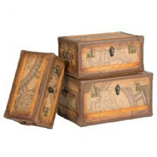 Amazing Stackable Storage Trunks | ... Trunks Display Set | Antique Storage Trunks  | Stacking