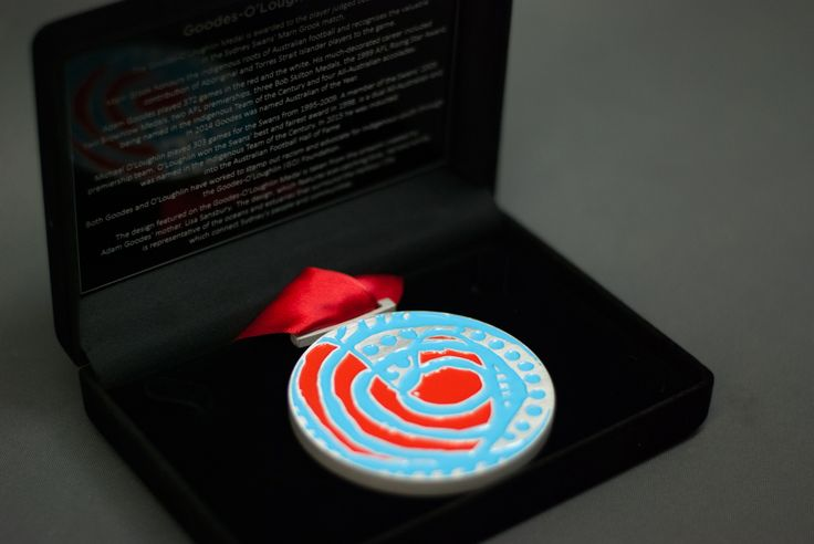 The Goodes-O'Loughlin Medal - custom design for the Sydney Swans AFL