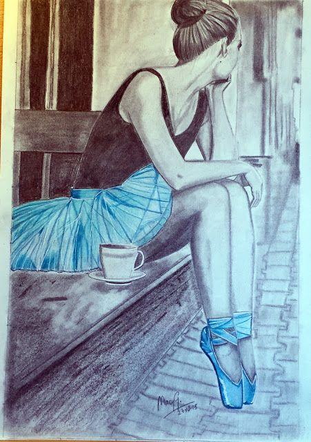 Dibujo Artistico by Mary G.: BLUE DANCER                                                                                                                                                                                 Más