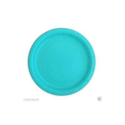 """Unique 9In"""" Teal Dinner Plates, 20Ct"""