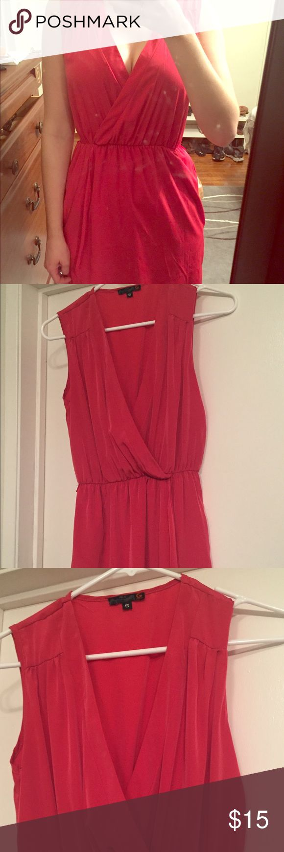 G by Guess dress 💋👠💄❤️ Little pink dress. Low cut, can be worn with or without bandeau underneath. Cute little belt can be added around the waste. Worn once. G by Guess Dresses Mini