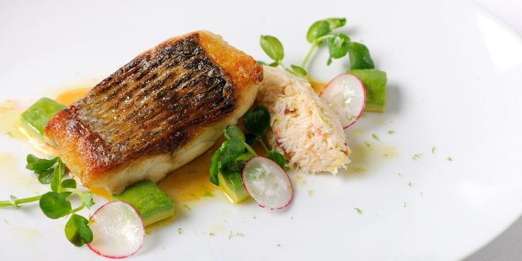 Sea bass is pan-fried and coupled with crab in this sea bass fillet recipe from Robert Thompson. Crab salad and mayonnaise compliment the…
