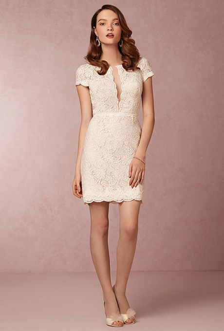 "Brides.com: . ""Kendall"" dress, $300, Encore by Watters available at BHLDN"