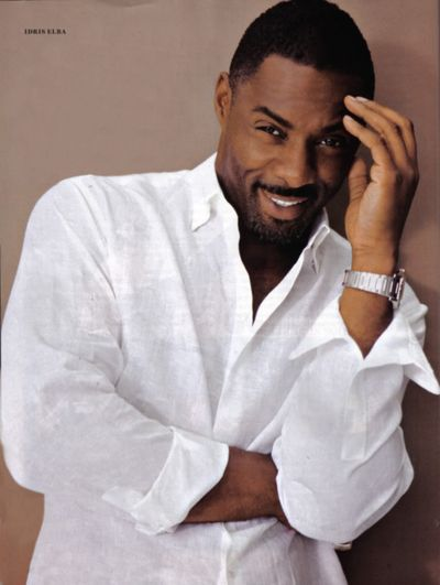 """Idris Elba. My cousin """"claims"""" this is her husband, but clearly she is mistaken."""