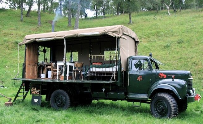 The Beer Moth, rustic vintage rental in U.K. on Tiny House Vacations