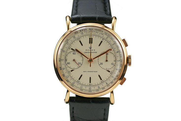 1960 Rolex Chronograph Anti-Magnetique Ref 4062 Watch For Sale - Mens Vintage Chronograph