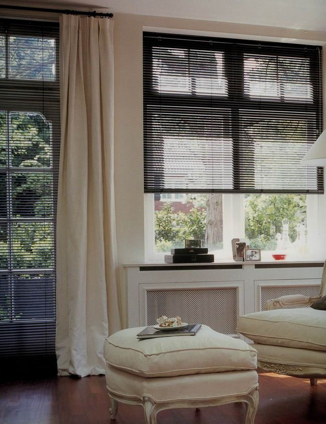 Dark Blinds And Light Curtains Spanish Villa Ideas