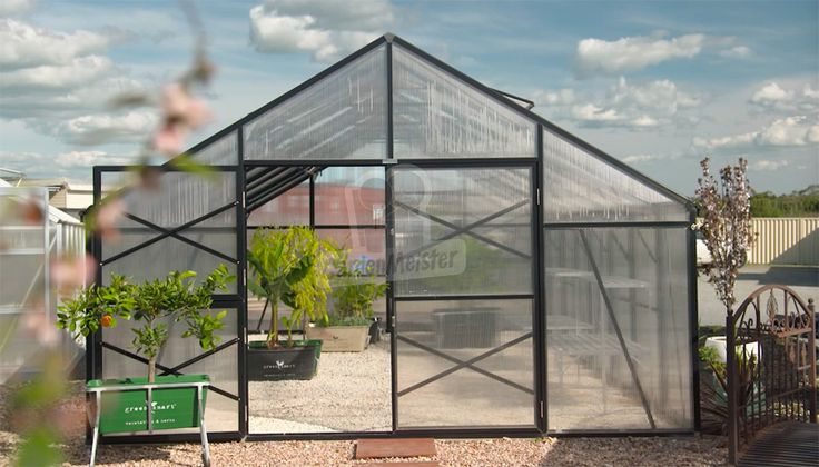 All the Elite greenhouses have 2 large french doors.