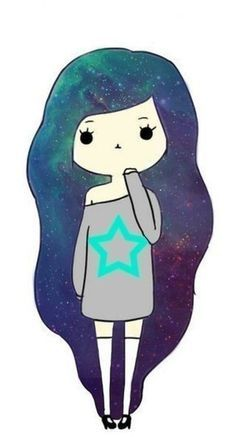 Chica con pelo galactico 6