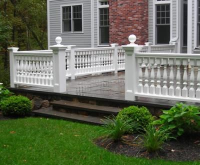 Patio Estate Railing | Commercial and Residential Solid Cellular PVC, Wood and Vinyl Exterior Deck, Patio, Poolside, Balcony and Staircase Railings from Walpole Woodworkers