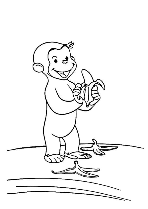 Monkey Coloring Pages Curious George Monkey Coloring Pages Curious George Coloring Pages Batman Coloring Pages